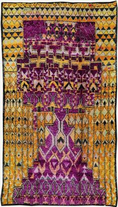 Vintage Moroccan Rug - love this - look at the site for many more great rugs Textiles, Textile Patterns, Print Patterns, Marrakech, Tapis Design, Textile Design, Moroccan Decor, Moroccan Rugs, Moroccan Bedroom