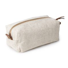 Look what I found at UncommonGoods: Small Linen Cosmetic Bag for $48.00