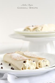 Cannoli Wraps ... easy recipe to make lighter substitutions