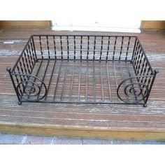 Dog bed Large wrought iron luxury metal pet bed handmade in uk Wrought Iron Beds, Wrought Iron Fences, Dog Bed Frame, Dog House Bed, Dog Hotel, Hotel Decor, Pet Furniture, Forged Steel, Beds Uk