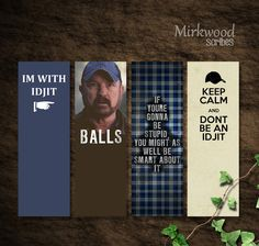 Supernatural Bookmarks Featuring Bobby Singer by MirkwoodScribes