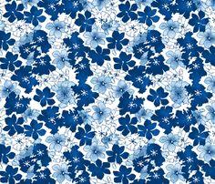 blue tulips fabric by karinka on Spoonflower - custom fabric