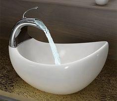 Baños con Estilo, Lavabos de Lujo Esculturales