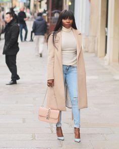 Pour ce look, je porte un total look hm. Jeans, pull et manteau. Une ceinture  Hermes, desescarpins Christian Loubout… 4ae8401eeaa