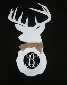 Hey, I found this really awesome Etsy listing at https://www.etsy.com/listing/261003164/deer-shoulder-mount-silhouette-with