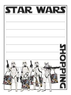 "Star Wars Shopping with Stormtroopers - Star Wars Weekends - Project Life Journal Card - Scrapbooking ~~~~~~~~~ Size: 3x4"" @ 300 dpi. This card is **Personal use only - NOT for sale/resale** Star Wars/shopping bags/C3PO belong to Disney. Font is Star Jedi www.dafont.com/star-jedi.font *** Click through to photobucket for more versions of this card ***"