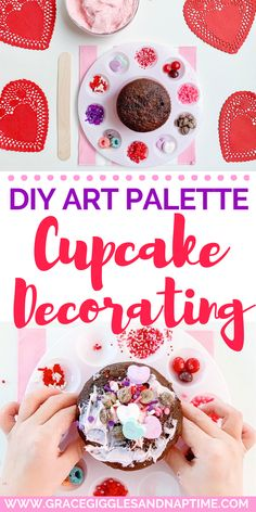 Elevate your cool mom status and let the kids get creative with this DIY art palette cupcake decorating station. Perfect for birthday parties, too!