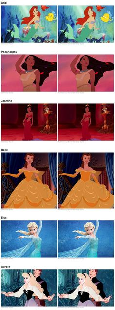 The ridiculously tiny unrealistic & unhealthy waist lines of Disney princesses.