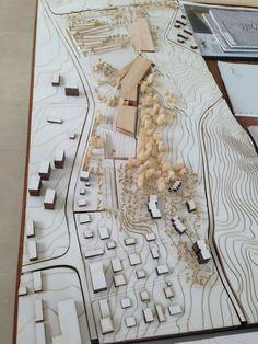 Landscape Architecture Model, Concept Models Architecture, Architecture Artists, Landscape Model, Pavilion Architecture, Architecture Design, Site Model, Urban Design Plan, Archi Design