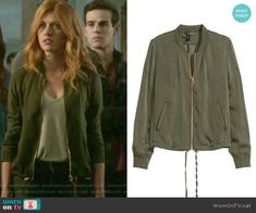 Bomber Jacket by H&M worn by Katherine McNamara on Shadowhunters Clary Fray Style, Clary Fray Outfit, Fashion Tv, Korean Fashion, Fashion Outfits, Fashion Trends, Crazy Outfits, Cute Outfits, Shadowhunters Outfit