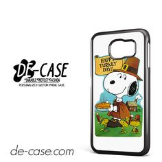 Snoopy Happy Turkey Day DEAL-9759 Samsung Phonecase Cover For Samsung Galaxy S6 / S6 Edge / S6 Edge Plus