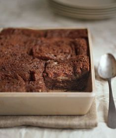 If you asked my husband, this quick and easy chocolate bread pudding is the best thing I've ever made...Even better with the chocolate bread we picked up at the farmer's market last week.