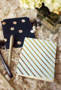 1ada6e786c7c65 Items similar to SALE SPECIAL EDITION glitter and gold mini blank notebook  jotter two pack on Etsy