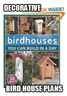 Marvel at the many varieties of decorative bird house plans available on the market.