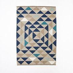 $349 Framed Triangles Wool Kilim Rug #westelm