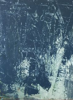 "RAIN DANCE 40x30"" Karri Allrich #abstract #expressionist  #women #artist #painting #blue #water #rain #newmexico #raindance"