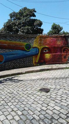 Arte na rua Glória-RJ