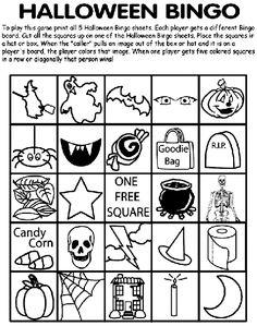 Halloween Bingo No.1 coloring page
