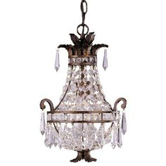 Bring eye-catching design to your foyer, living room, or master suite with this chic luminaire, masterfully crafted for artful sophistication and lasting sty...