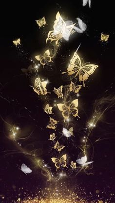 It… Beautiful golden butterfly live wallpaper! It is originally designed by Ahatheme! Hd Wallpaper Android, Cute Wallpaper Backgrounds, Cellphone Wallpaper, Pretty Wallpapers, Colorful Wallpaper, Desktop Wallpapers, Trendy Wallpaper, Wallpaper Art, Black Backgrounds