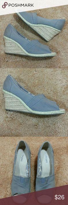 99f109e9706e7 Lane Bryant Peep Wedges. NWNT Gray 3.5 in heel peep wedges. Never worn. Lane  Bryant Shoes Wedges