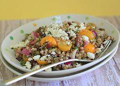 Israeli Couscous Green Lentil Salad