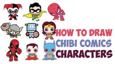 Okay, we have posted a lot of cute / chibi /kawaii styled super heroes / and comic book characters lately. So, I figured I would combine them all into one post to make them easier to find. Below you will find drawing tutorials for chibi Harley Quinn, Robin, Spiderman, Thor, Captain America, Wonder Woman, Deadpool, Superman, and Batman. This style is much easier to learn how to draw, so are great for beginners and kids. Have fun!