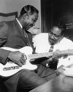 Otis Spann and Muddy Waters, by Terry Cryer