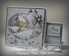 cards made with memory box dies | ... made using a marianne designs die and the holly is a memory box die