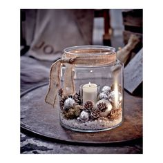 Windlicht, Glas Vorderansicht - All For Remodeling İdeas Rustic Christmas, Christmas 2019, Christmas Home, Christmas Ornaments, Vintage Christmas, Christmas Candles, 242, Christmas Table Decorations, Winter Decorations