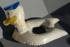 1959 Donald Duck Swimming Pool Blow Up Toy still Squeaks.