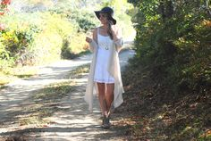 Converting a summer dress for Fall