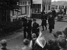 1945. Collaborators and NSB Nazi-symphatizers are arrested by uniformed police and BS in the town of Diemen south of Amsterdam. Most arrests were random by the Binnenlandse Strijdkrachten (BS). Police stations and prisons quickly became overcrowded so that schools, barracks and former concentration camps had to be furnished to detain the approximately 120,000 collaborators that were arrested after the liberation of the Netherlands. #amsterdam #1945 #worldwar2 #Diemen