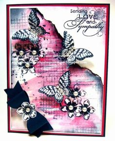 Stamping with Julie Gearinger: Stampin' Up! Card using the DD92 Dynamic Duos Colors and the Floral Theme for the Card Concept #4 Challenge.  Five Stamp Sets- Petite Petals, Gorgeous Grunge, Papillon Potpourri, Off the Grid, Love and Sympathy along with Four Punches