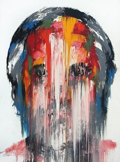 In Korean painter KwangHo Shin's mural-scale portraits, smeared and scratched colors communicate emotions similarly to a furrowed brow or creased smile line. Shin obliterates the recognizable… A Level Art, Abstract Portrait, Portraits, Art Inspo, Painting & Drawing, Contemporary Art, Contemporary Portrait Artists, Art Photography, Street Art