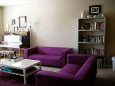 IKEA hacks- RIT Dyeing IKEA Slip Covered Sofa - Klippan