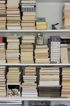 organizing books // by aimeeaxel, via Flickr