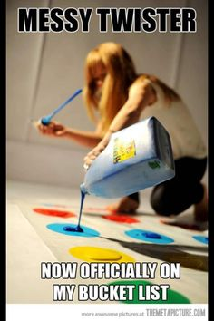 Messy twister! This would be an awesome outdoor party idea for the kids :)