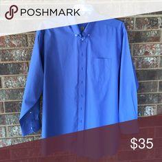 Men's Gold Label dress shirt Like new light blue non-iron button up dress shirt 100% cotton Roundtree & Yorke Shirts Dress Shirts