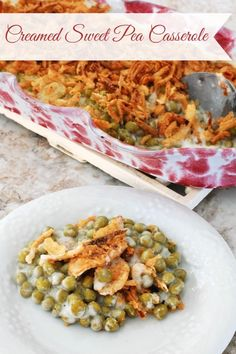 Creamed Sweet Pea Casserole - You know how Thanksgiving is more about the sides than the turkey?  Well, this is one dish you are going to want as part of the feast!