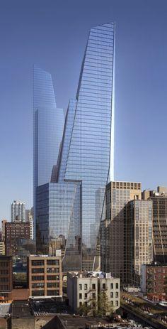 Hudson Yards South Tower (54 fl & 1,017 ft) -and-  North Tower (65 fl & 1,292 ft) | Kohn Pedersen Fox