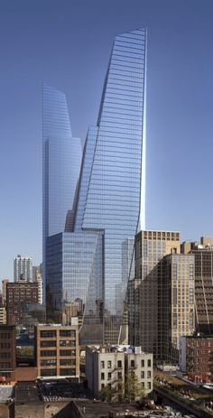 Hudson Yards South Tower (54 fl & 1,017 ft) -and-  North Tower (65 fl & 1,292 ft)   Kohn Pedersen Fox
