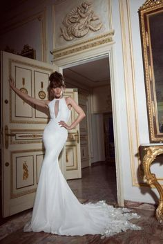 Say yes to this dress on pinterest pnina tornai for Skin tight wedding dresses