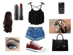 """""""Untitled #3"""" by lirianoanshley on Polyvore featuring Levi's, Converse, MICHAEL Michael Kors and Marc by Marc Jacobs"""