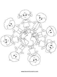 Afbeeldingsresultaat voor kleurplaat wereldbol