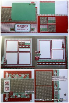 Mary Gunn FUNN - Shine and Sparkle how-to layouts