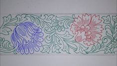 Peacock Embroidery Designs, Border Embroidery Designs, Floral Embroidery Patterns, Quilting Designs, Hand Embroidery, Stencil Patterns, Pattern Art, Lotus Flower Art, Tanjore Painting