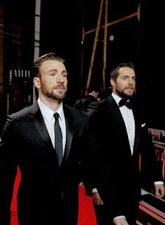 Henry and Chris at BAFTA. Feb. 8, 2015