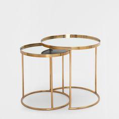 Runder, unterschiebbarer Tisch (2er-Set) - Schemel & Beistellmöbel - Dekoration | Zara Home Österreich