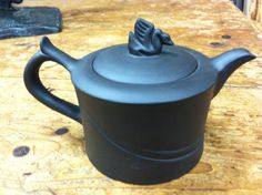 Beautiful Chinese Zisha Clay Teapot with Swan Lid 3 by Chichesters, $89.50